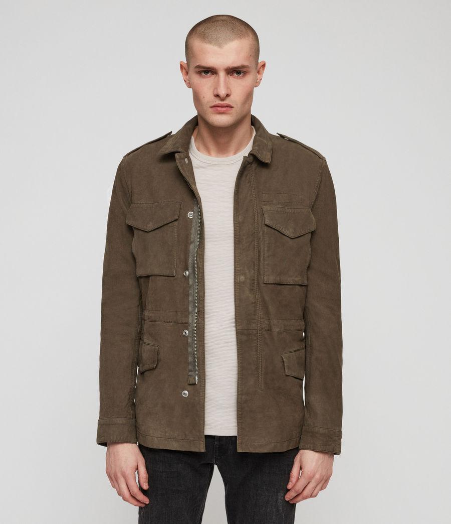 Men's Courte Nubuck Jacket (dark_khaki_green) - Image 1