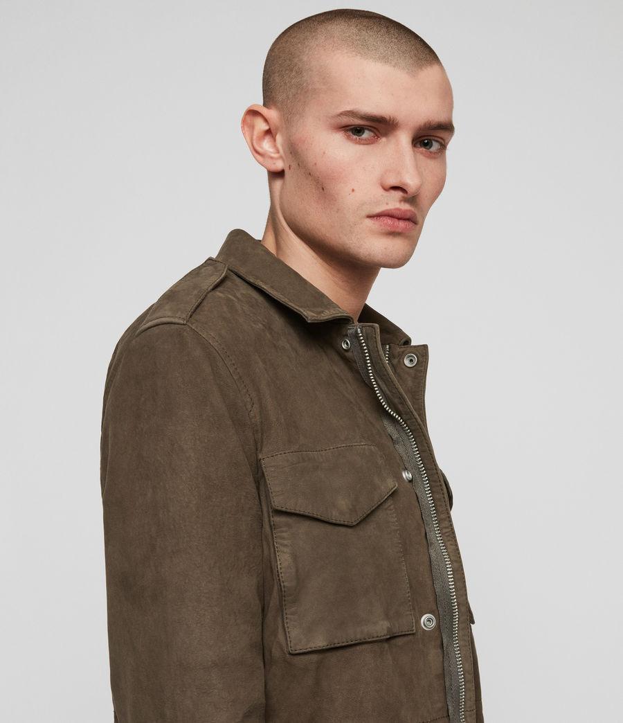 Men's Courte Nubuck Jacket (dark_khaki_green) - Image 2