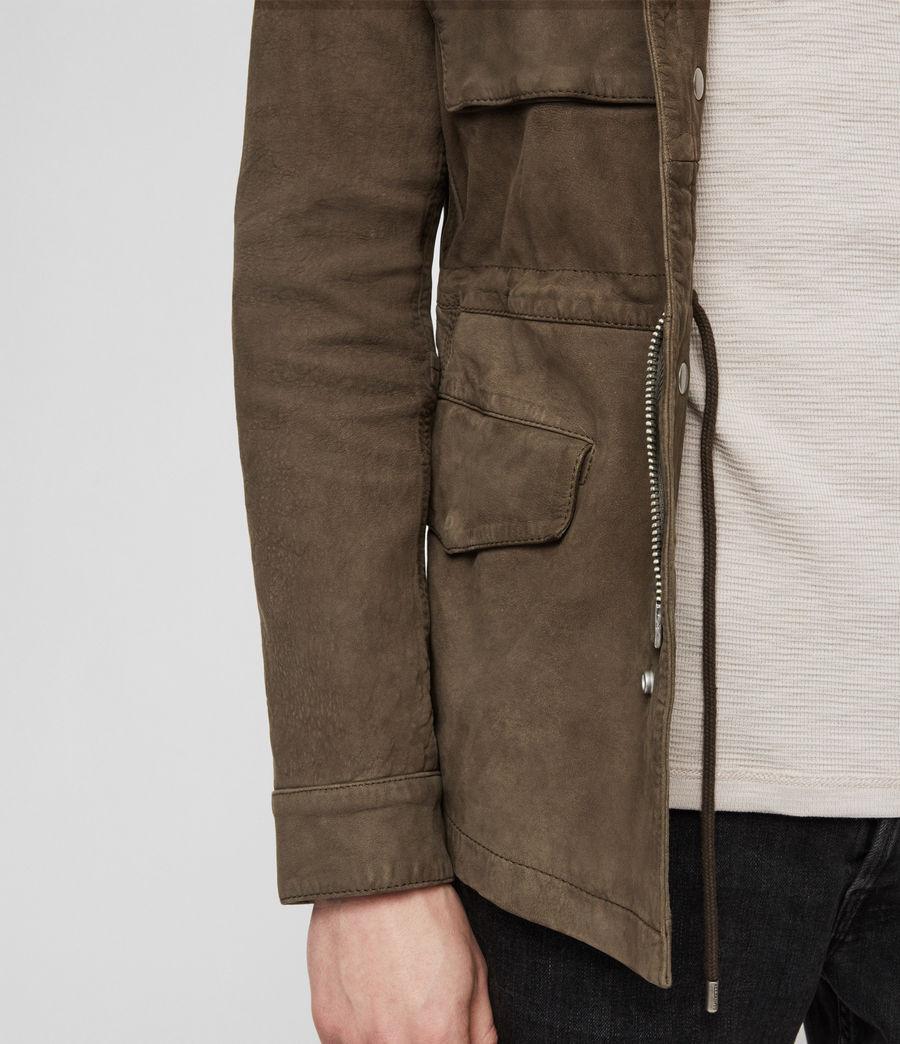 Men's Courte Nubuck Jacket (dark_khaki_green) - Image 4
