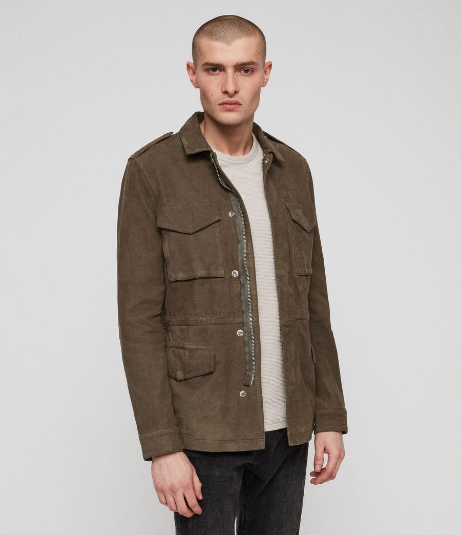 Men's Courte Nubuck Jacket (dark_khaki_green) - Image 5