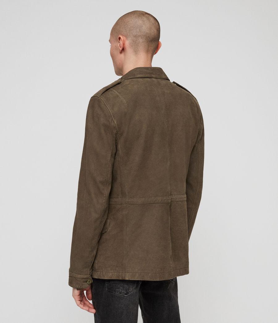 Men's Courte Nubuck Jacket (dark_khaki_green) - Image 6