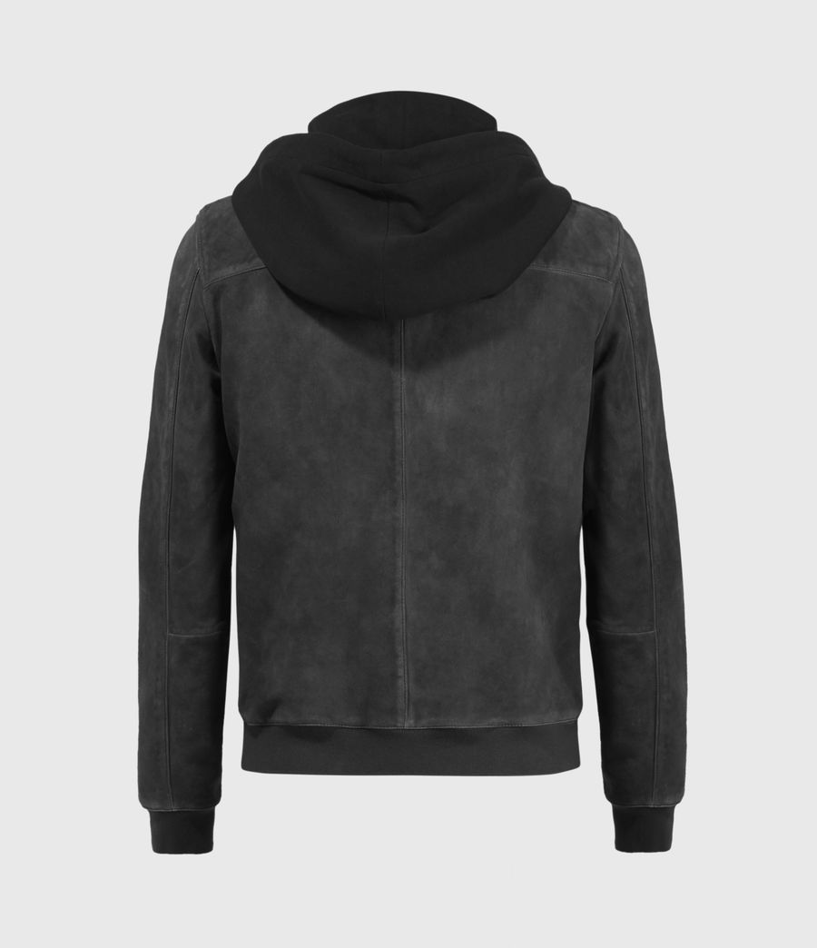Mens Troy Suede Bomber Jacket (black) - Image 2