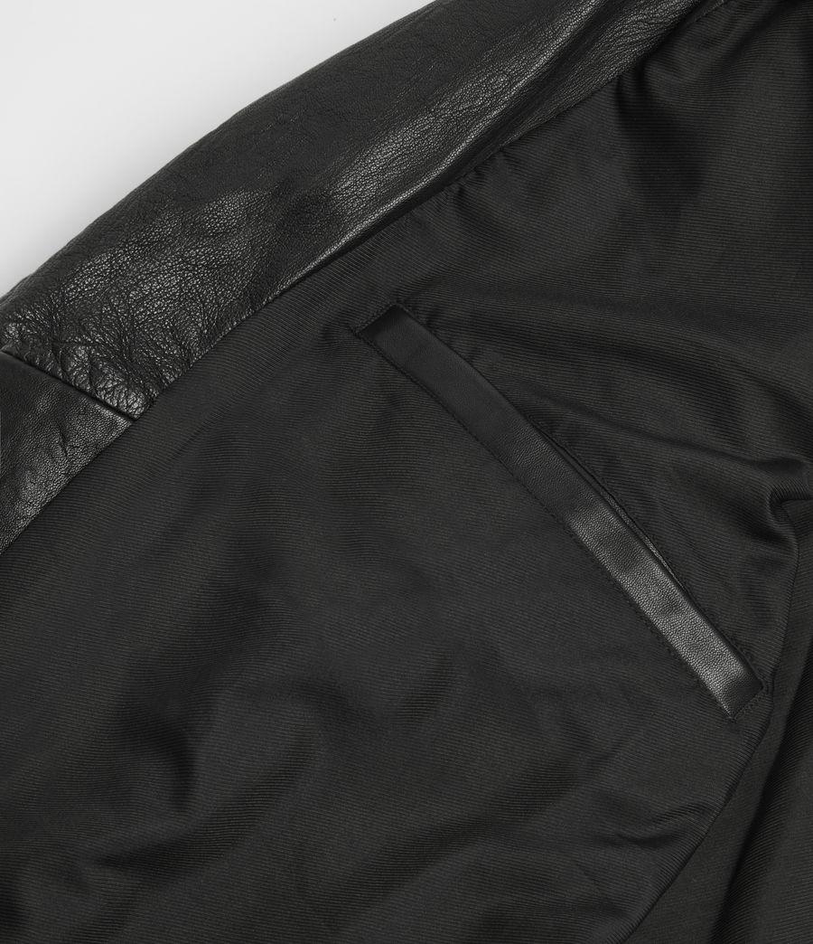 Mens Renzo Leather Biker Jacket (black) - Image 10