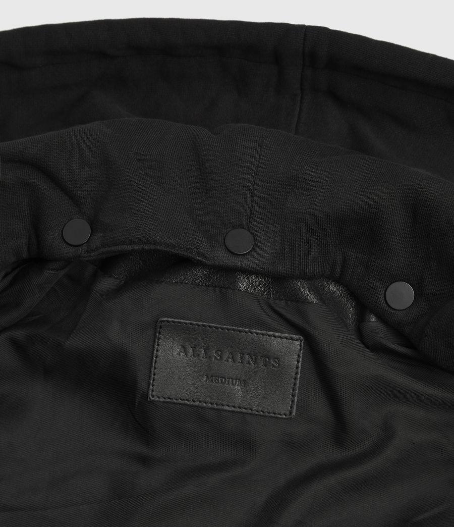 Mens Renzo Leather Biker Jacket (black) - Image 9