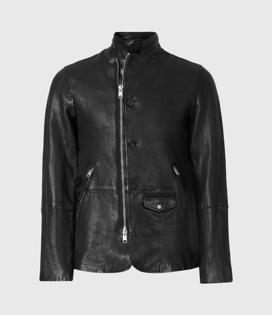 Men's Axel Leather Blazer (black) - Image 2