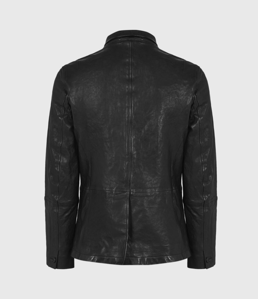 Men's Axel Leather Blazer (black) - Image 3