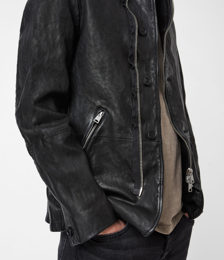 Men's Axel Leather Blazer (black) - Image 4