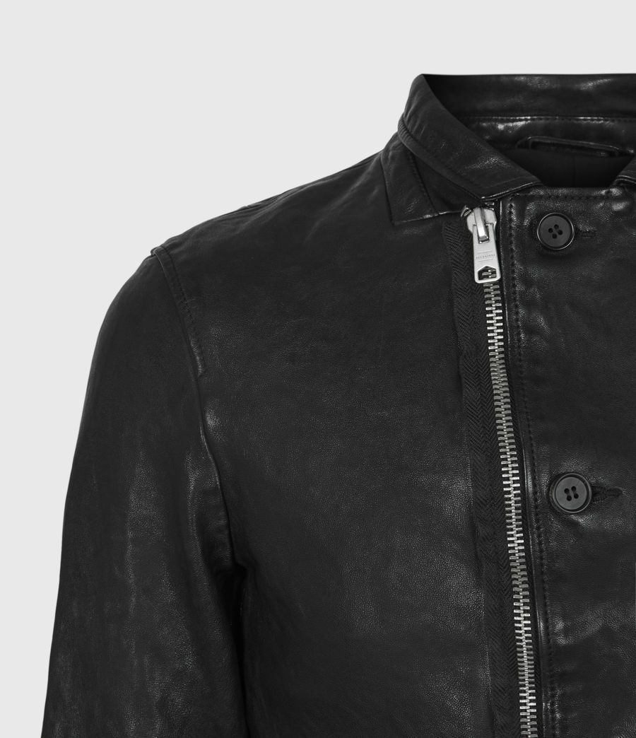 Men's Axel Leather Blazer (black) - Image 5
