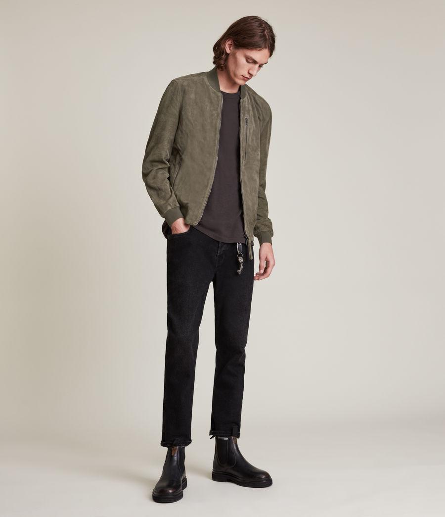 Men's Kemble Suede Bomber Jacket (khaki_green) - Image 1