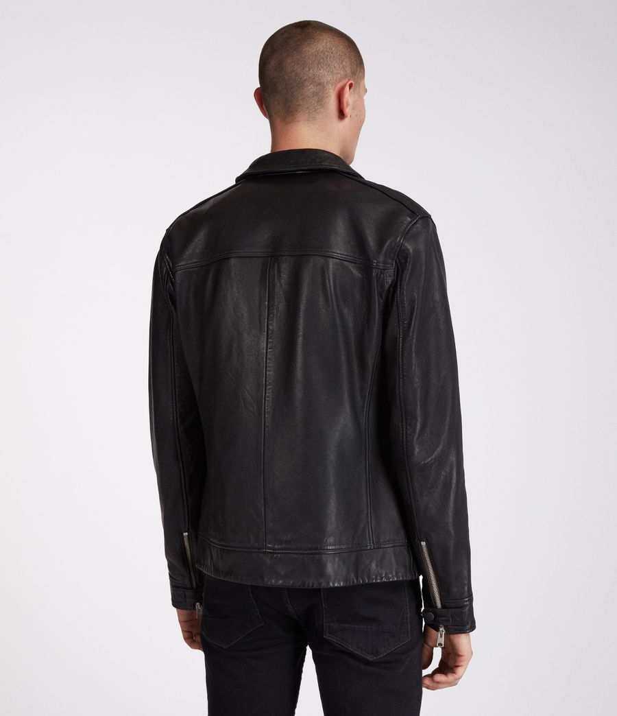 Men's Forum Leather Jacket (black) - Image 6