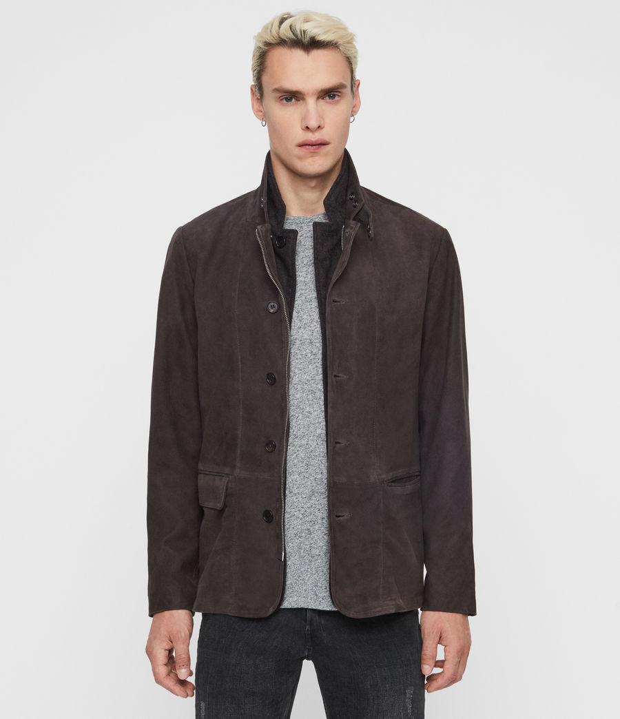 Mens Baston Suede Blazer (soot_grey) - Image 1