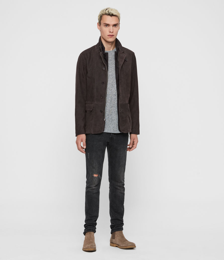 Mens Baston Suede Blazer (soot_grey) - Image 3