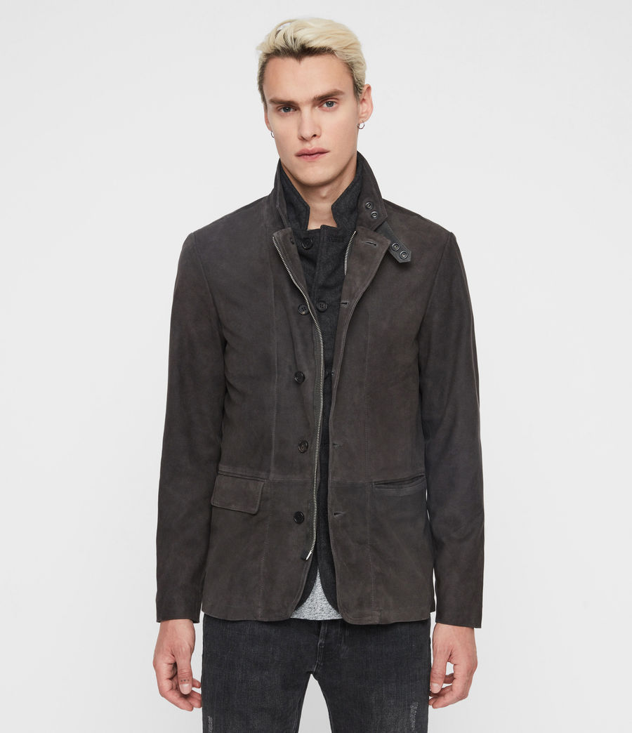 Mens Baston Suede Blazer (soot_grey) - Image 5