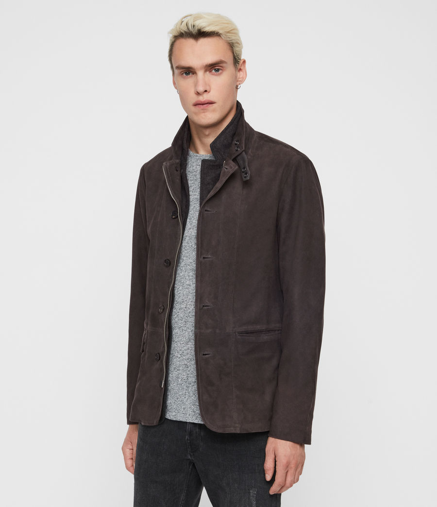 Men's Baston Suede Blazer (soot_grey) - Image 6