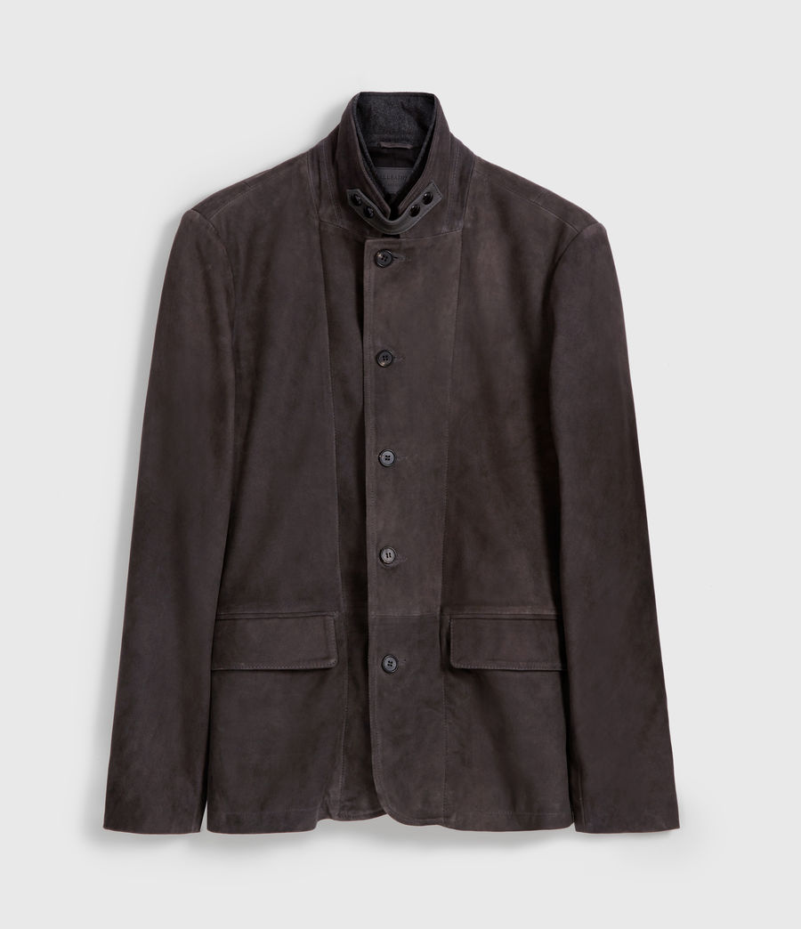 Mens Baston Suede Blazer (soot_grey) - Image 8