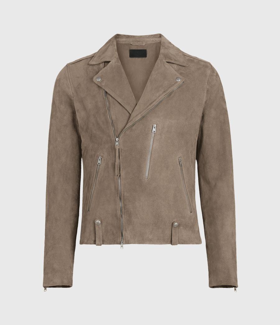 Men's Savoy Suede Biker Jacket (light_taupe) - Image 1