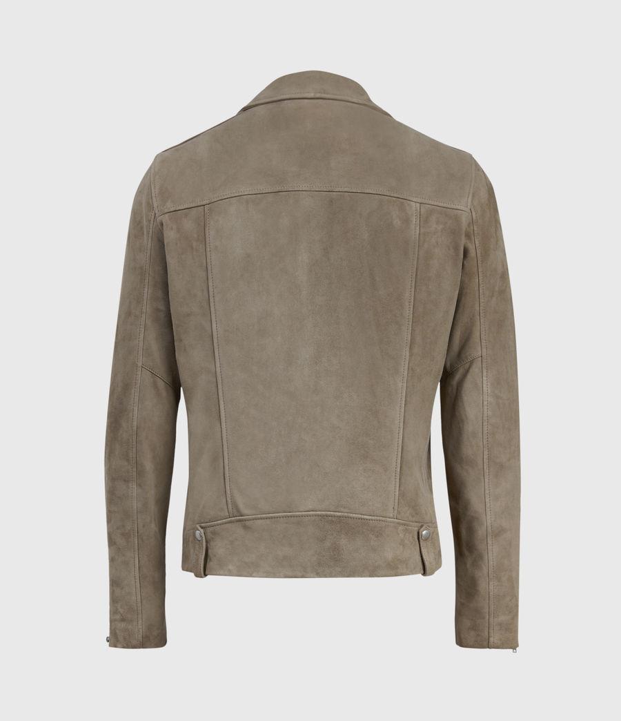 Men's Savoy Suede Biker Jacket (light_taupe) - Image 2