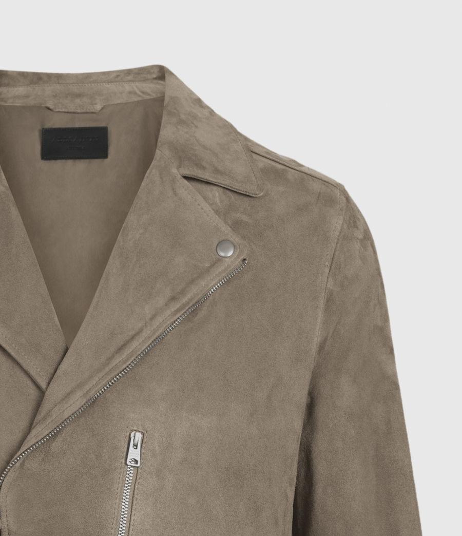 Men's Savoy Suede Biker Jacket (light_taupe) - Image 3