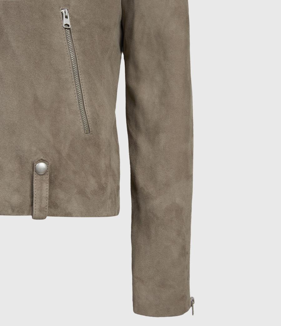 Men's Savoy Suede Biker Jacket (light_taupe) - Image 4