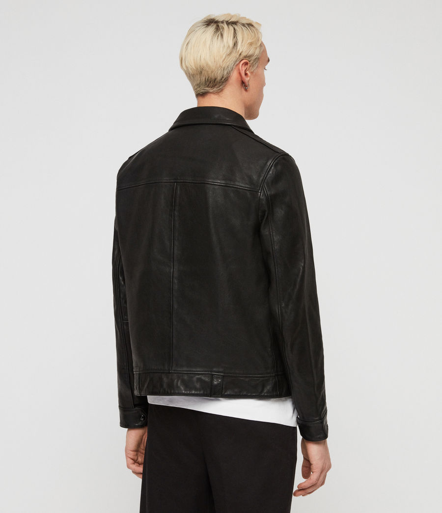 c558a2bb1a ALLSAINTS CA  Mens Callon Leather Jacket (black)