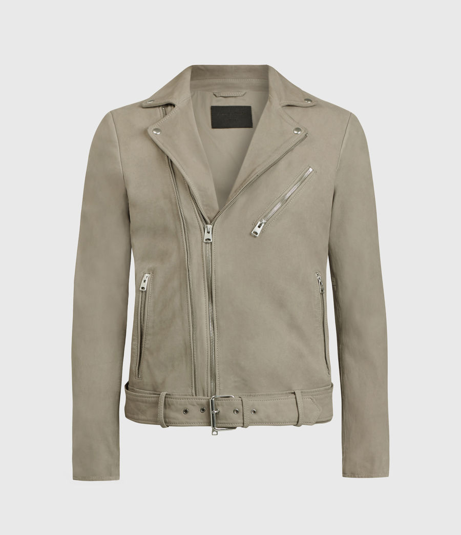 Men's Inigo Nubuck Biker Jacket (dark_cement_grey) - Image 1