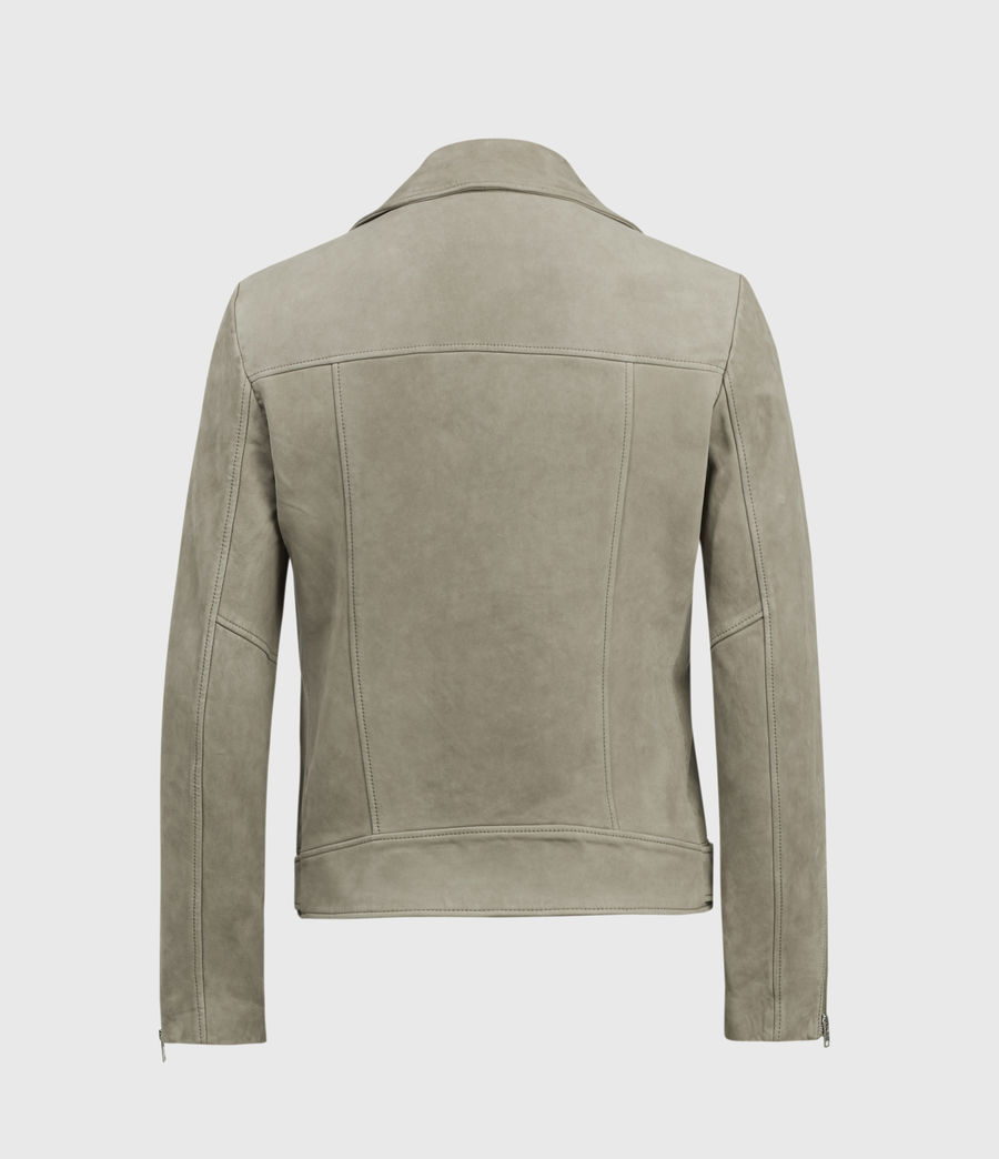 Men's Inigo Nubuck Biker Jacket (dark_cement_grey) - Image 2