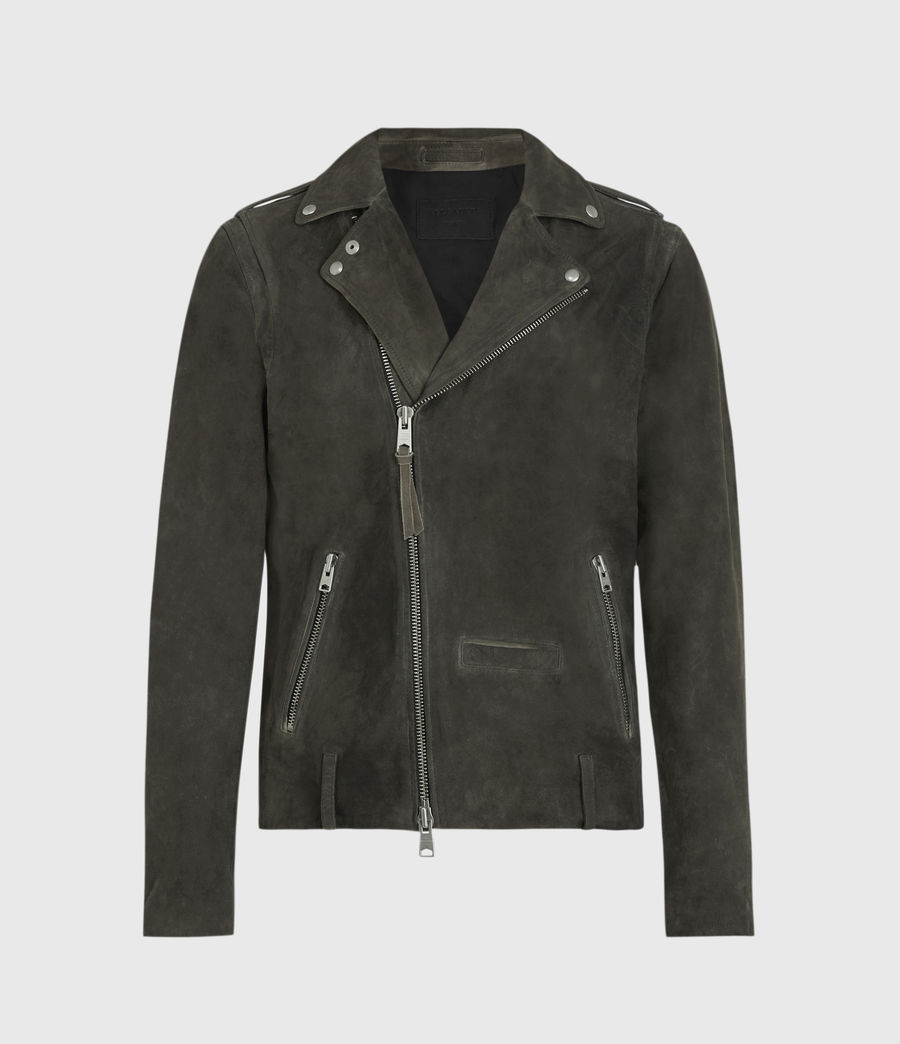 Men's Jadon Suede Biker Jacket (anthracite) - Image 1
