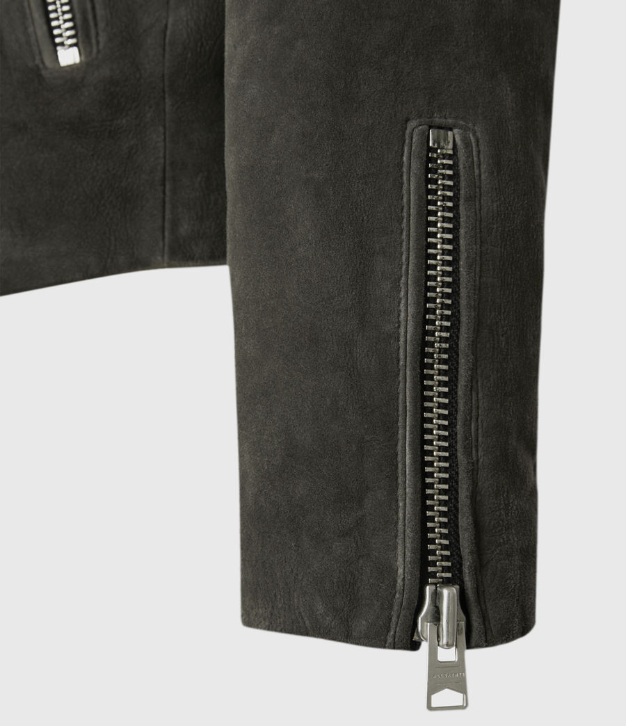 Men's Jadon Suede Biker Jacket (anthracite) - Image 4