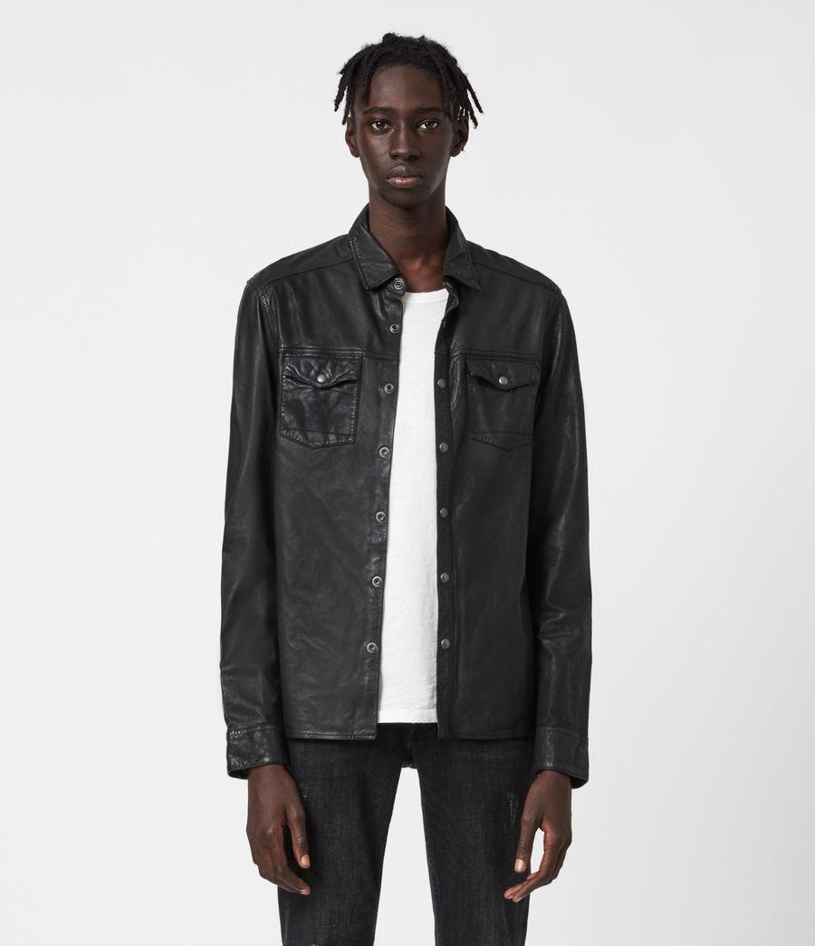Uomo Irwin Leather Shirt (black) - Image 1