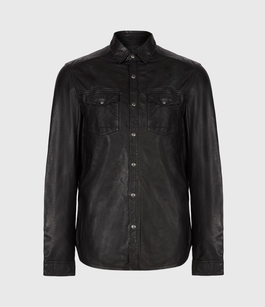 Uomo Irwin Leather Shirt (black) - Image 2