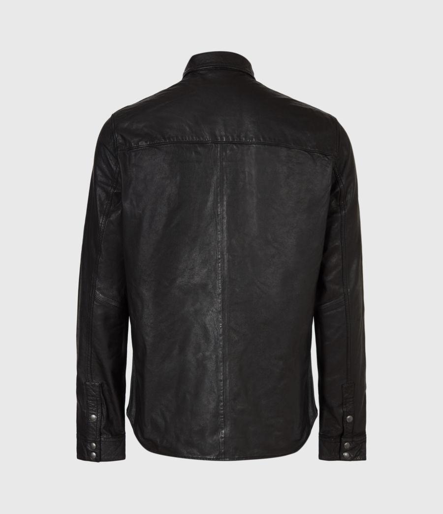 Uomo Irwin Leather Shirt (black) - Image 3