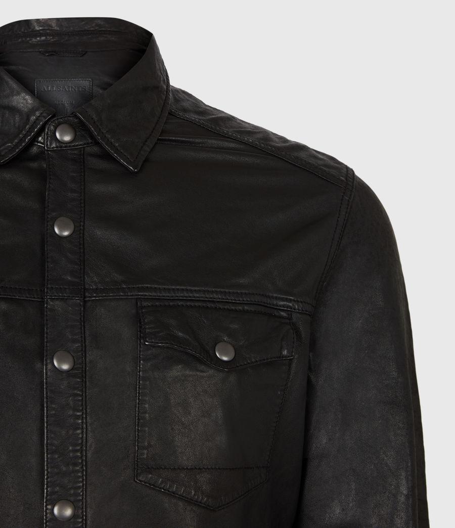 Uomo Irwin Leather Shirt (black) - Image 4
