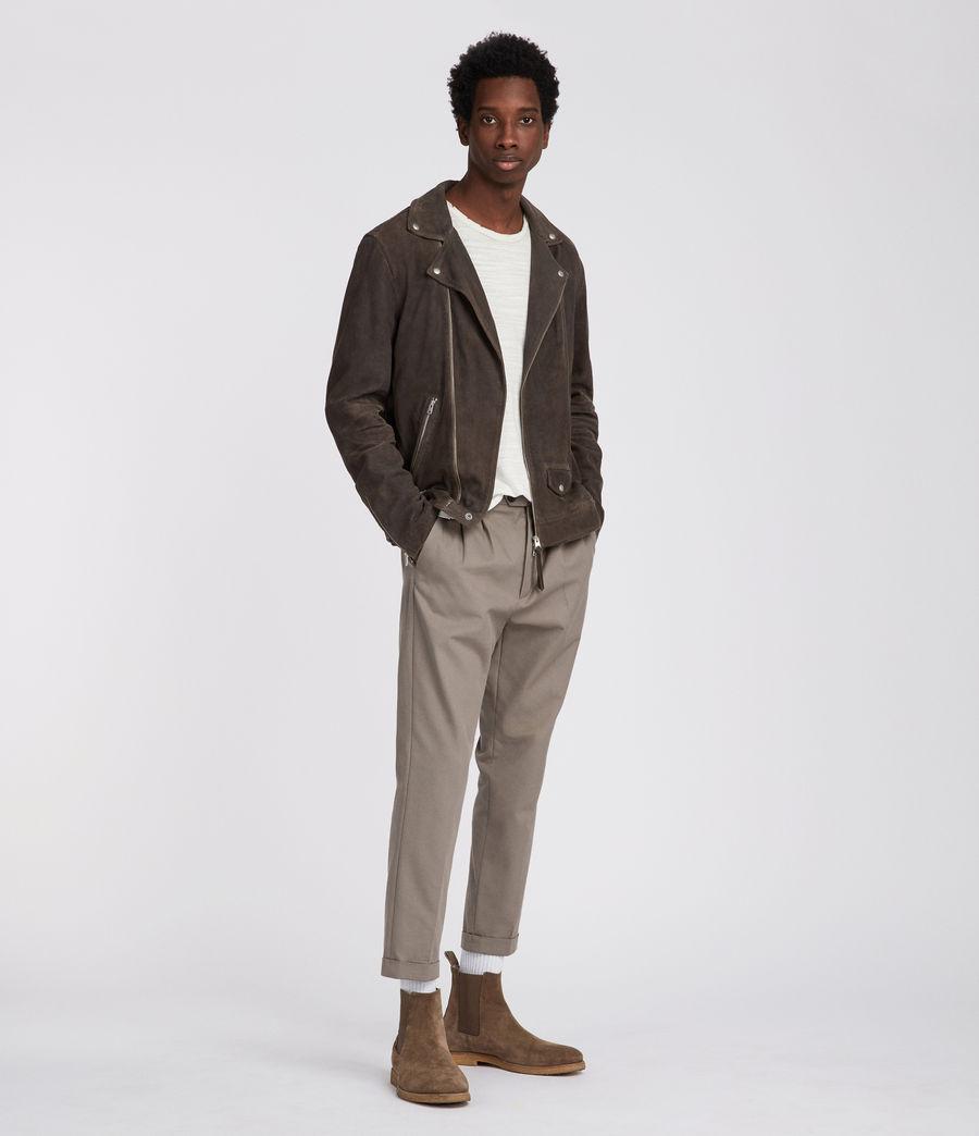Men's Kano Suede Biker Jacket (gravel) - Image 2