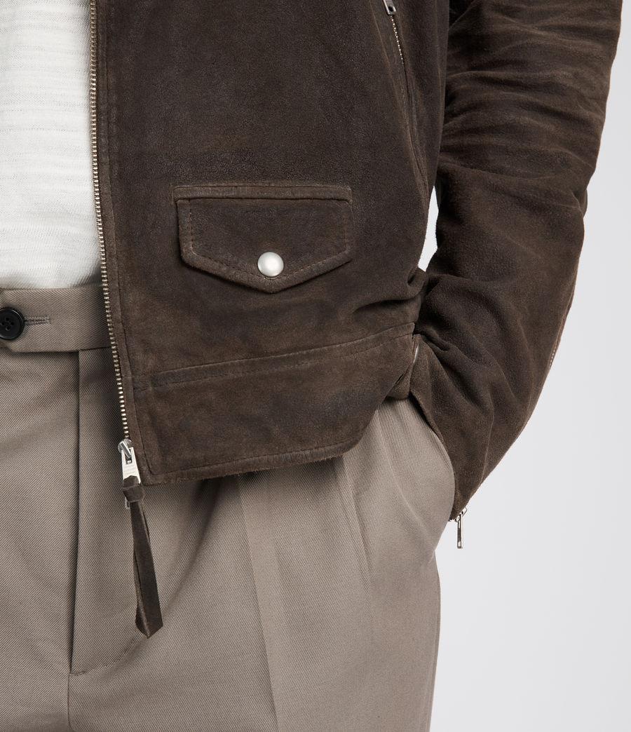 Men's Kano Suede Biker Jacket (gravel) - Image 4