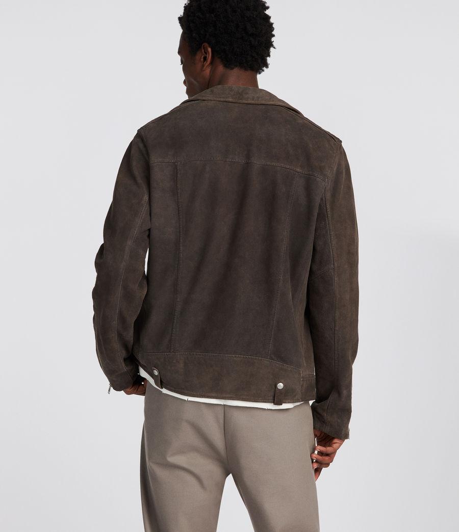 Men's Kano Suede Biker Jacket (gravel) - Image 5