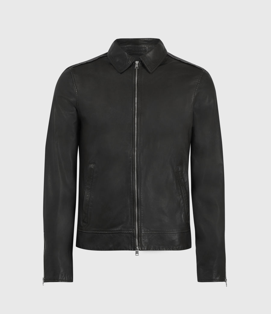 Hombres Laverton Leather Jacket (black) - Image 1