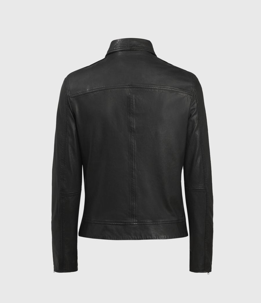 Hombres Laverton Leather Jacket (black) - Image 2