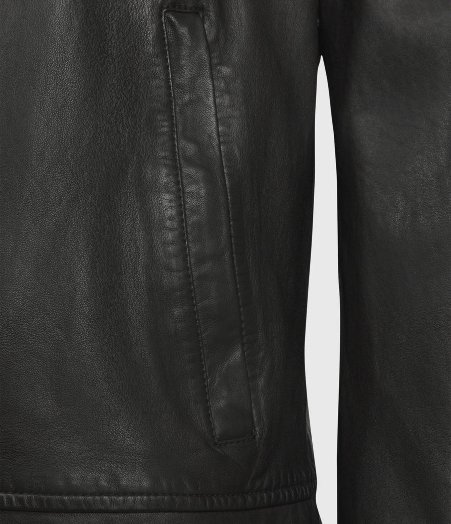 Hombres Laverton Leather Jacket (black) - Image 3