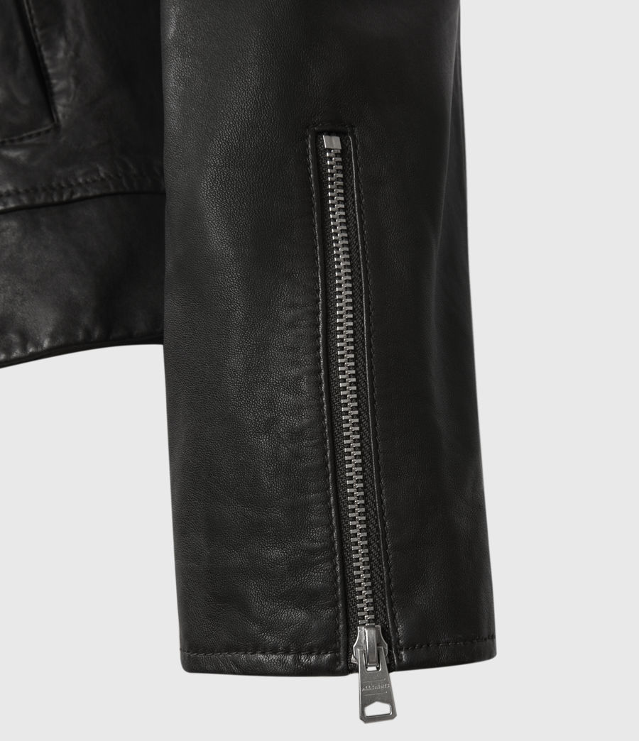 Hombres Laverton Leather Jacket (black) - Image 4