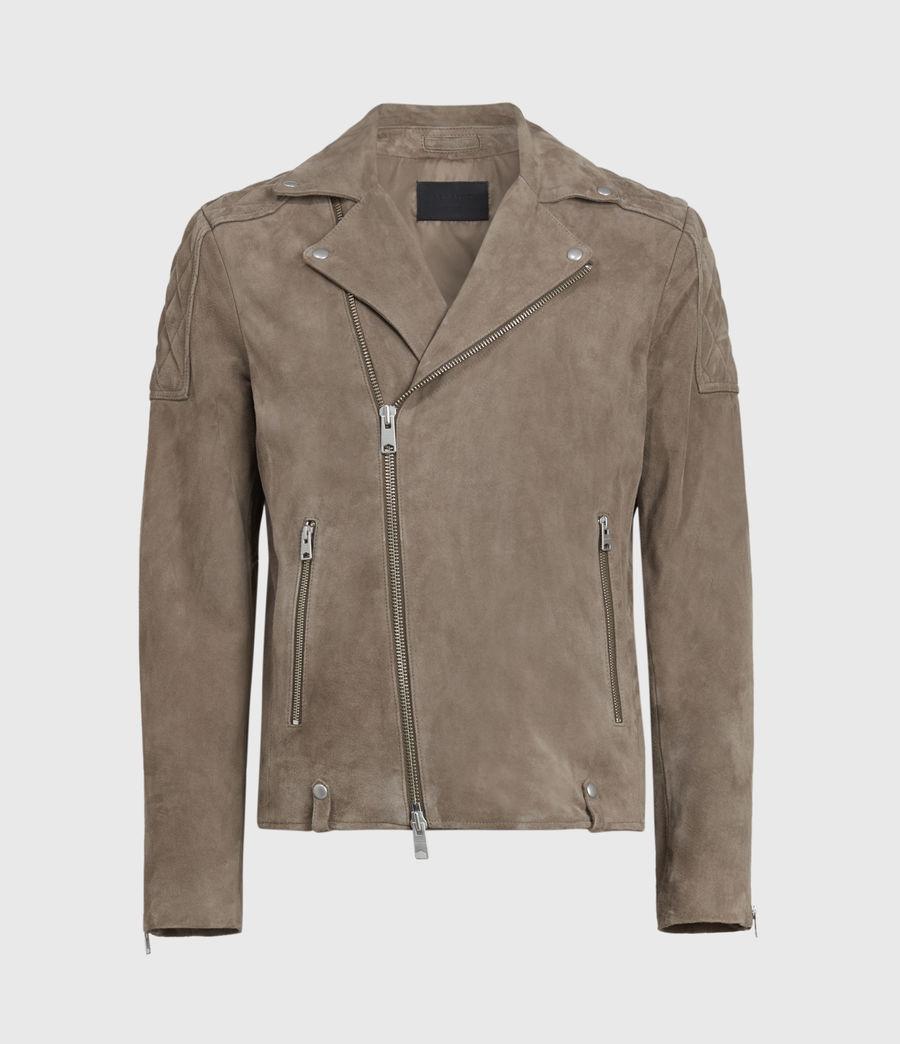 Mens Priory Suede Biker Jacket (light_taupe) - Image 2