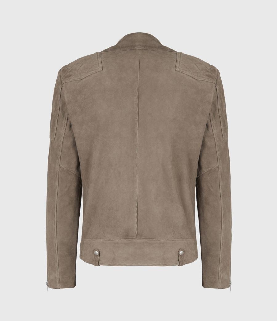 Mens Priory Suede Biker Jacket (light_taupe) - Image 3