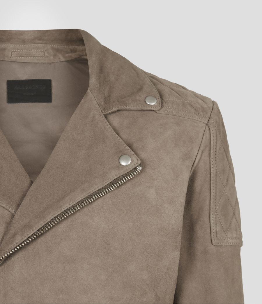 Mens Priory Suede Biker Jacket (light_taupe) - Image 5
