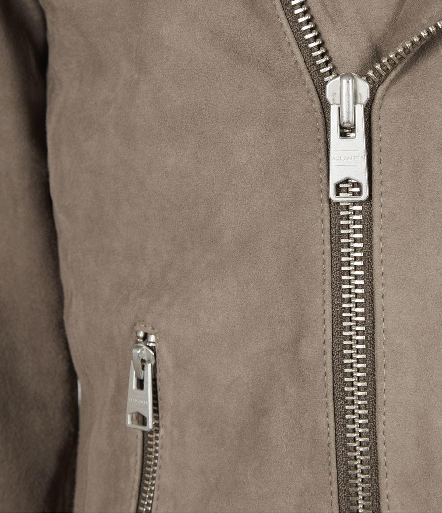 Mens Priory Suede Biker Jacket (light_taupe) - Image 6