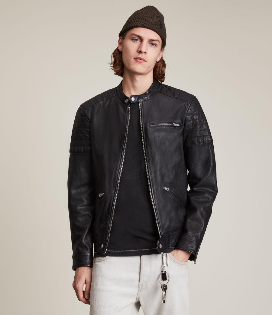 Men's Rocco Leather Jacket (black) - Image 1