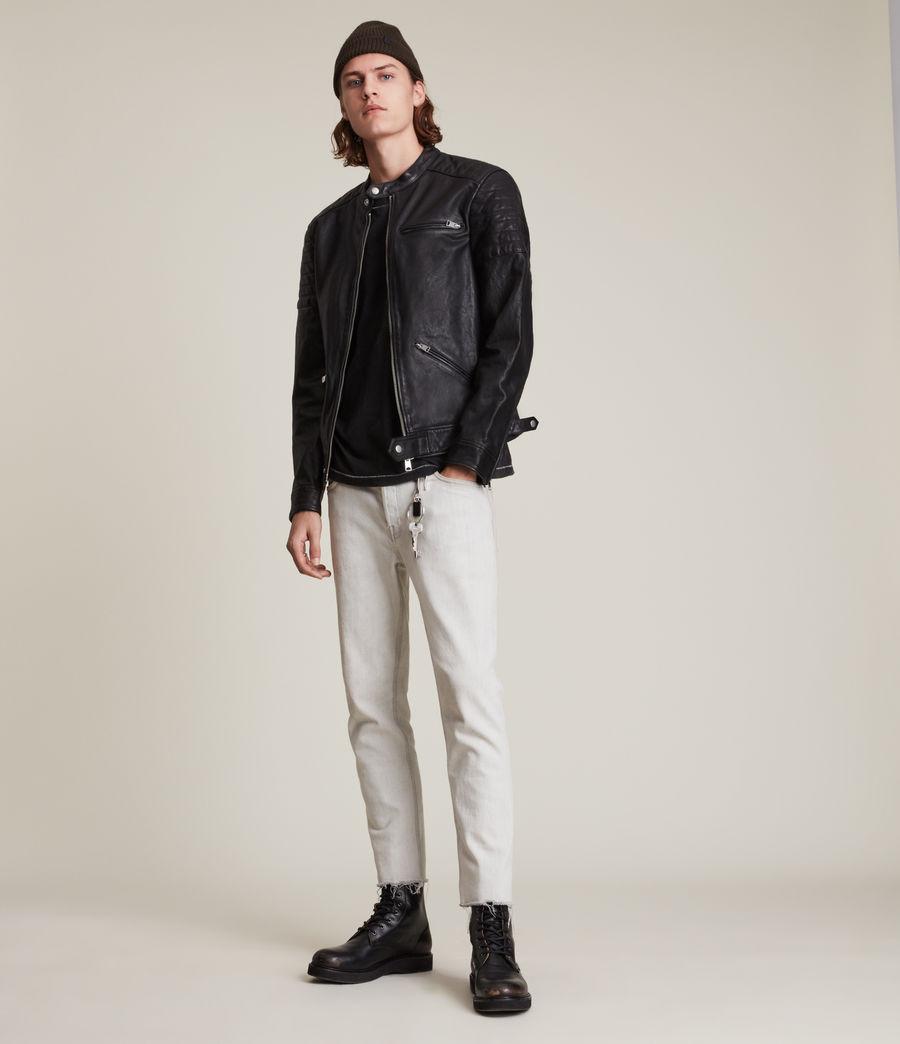 Men's Rocco Leather Jacket (black) - Image 2