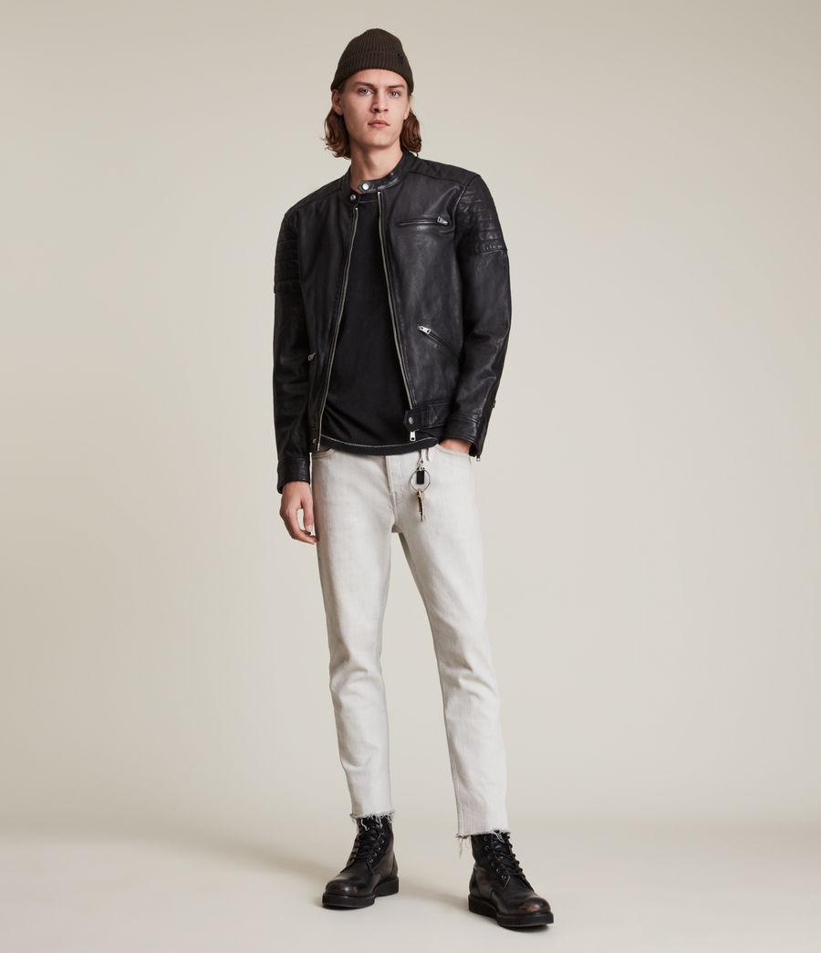 Men's Rocco Leather Jacket (black) - Image 3