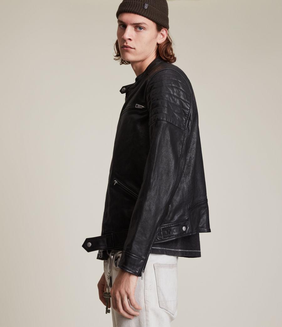 Men's Rocco Leather Jacket (black) - Image 4