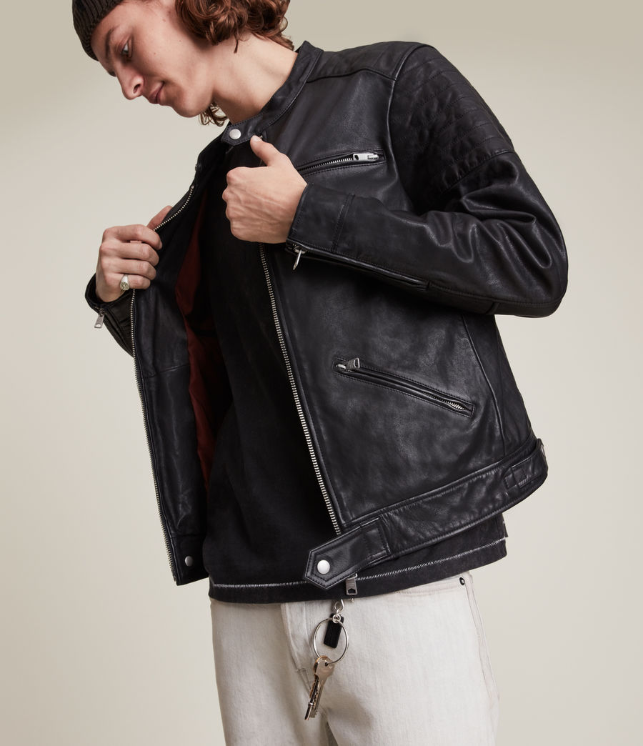 Men's Rocco Leather Jacket (black) - Image 5