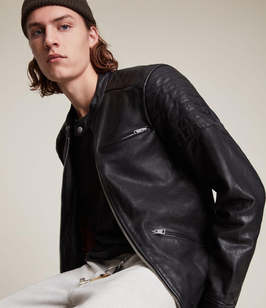 Men's Rocco Leather Jacket (black) - Image 6