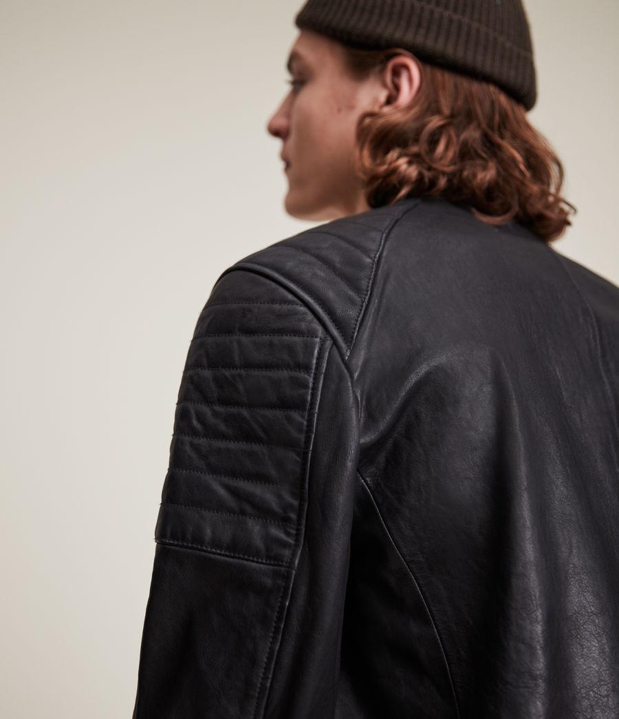 Men's Rocco Leather Jacket (black) - Image 7